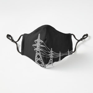 Face mask with pylon design, by Maddy Bennett